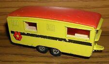 Lesney Trailer Caravan Superfast  - gelb mit Aufkleber