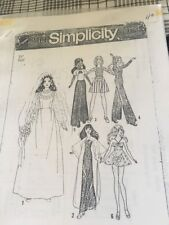 "VTg Wedding Dress PATTERN SIMPLICITY 7210 DOLL CLOTHES 19 "" BARBIE Htf"
