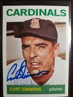 2016 Curt Simmons Topps Archives Certified Auto Autograph Card Signed Cardinals