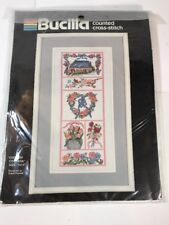 "Bucilla Counted Cross Stitch Kit #40376 ENGLISH COTTAGE 7""x15"" Brand New Sealed"