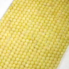 """Wholesales 10 strands x 6mm Yellow Lemon Jade Round Gemstone Beads 15.5"""" GB4"""