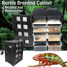 Feeding Box Reptile Breeding Hatching Tank Insect Spider Turtle Cage Lizard Heat
