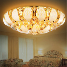 Luxury Crystal Ceiling Light Lamp Gold Fixture Lighting Home Room Decor 60cm