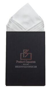 Pre Folded Men Pocket Square Satin Hankie Handkerchief Aspen Collection for Suit