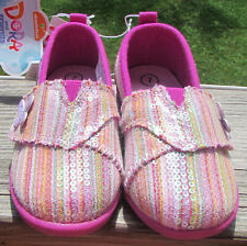 girls 7 slip on shoes sneakers lightweight flats casual beach Dora velcro comfy