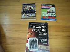3 Football BiographiesThe Way We Played the Game & Phil Simms & Charlie Weis