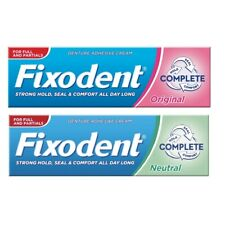 Denture Adhesive Strong Secure Fixodent Original / Neutral Cream 47g Food Seal