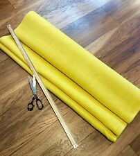Deluxe Yellow Hessian Fabric Fine Weave Quality Jute Burlap Craft Upholstery