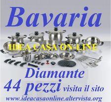 BAVARIA BATTERIA DI PENTOLE DIAMANTE 44 PEZZI ACCIAIO INOX 18/10