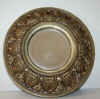 """Round Antiqued Gold Wall Mirror 13"""""""