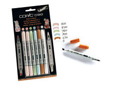 COPIC CIAO MARKER - 6 PEN SET - SCRAP & STEMPELSET 1 - TWIN TIPPED