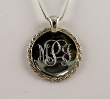 Tipo's Creations Handmade Sterling Silver Rope Monogrammed Necklace