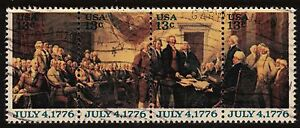 Scott #1691-94 Used Se-Tenant Strip of 4, Declaration of Independence