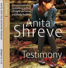 Testimony, Anita Shreve, Audio CD, New