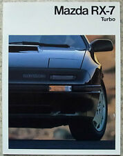 MAZDA RX-7 TURBO Car Sales Brochure c1990 GERMAN TEXT