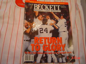 NEW YORK YANKEES JOHN WETTELAND signed WORLD SERIES MVP BECKETT MAGAZINE COA