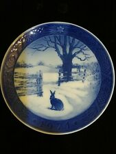 Royal Copenhagen 1971 Hare In Winter / Hare 1 vinterlandskab Christmas Plate