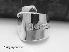 EXETER ANTIQUE SOLID STERLING SILVER SPOON RING APPROVED SIZE P Q R S