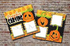 Halloween Pumpkin Carving 2 PRINTED Premade Scrapbook Pages BLJgraves 72