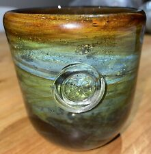 More details for early rare mdina glass small bell vase c.1970