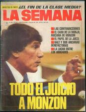 CARLOS MONZON - The Judgment - Original La Semana # 656 magazine 1989