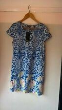 Womens Size 10 STELLA MORGAN LONDON Multi Blue white Floral Lightweight Dress