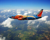 SOUTHWEST AIRLINES BOEING 737 'SLAM DUNK ONE' 8x10 SILVER HALIDE PHOTO PRINT
