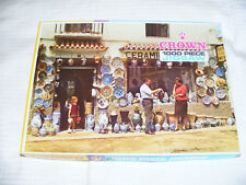 "Vintage Original ""Buying  Spanish  Pottery "" Switzerland Jigsaw  Puzzel COMPLETE"