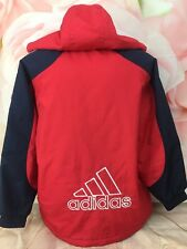 VIntage 1990s Adidas Kids Youth SIze 70 Spell Out Retro Hooded Jacket Made Korea