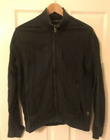 Hugo Boss Orange Zipped Jumper Jacket size M Black Sleeve Needs Repair