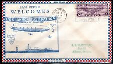 US 1932 NAVY ZEPPELIN USS AKRON USS PATOKA FIRST TRIP ATLANTIC TO PACIFIC MAY