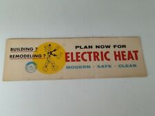 Vintage All Electric Home Cardboard Sign Sign 14 x 4.5 1960's ?