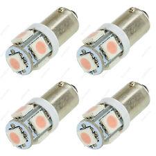 4 x Pink T11 BA9S T4W H6W 1985 363 5-SMD LED Car Wedge Side Light Bulb Lamp