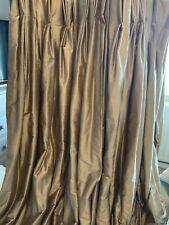 silk curtains,  interlined