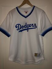 New Los Angeles Dodgers Men's Medium M Mitchell & Ness Mesh V-Neck Jersey White