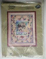 Vintage Something Special Crewel Needlepoint Kit Ewes Floral Sheep Flowers 40236