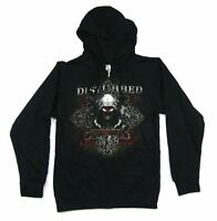 Disturbed Invincible Black Zip Up Sweatshirt Hoodie New Official Band Merch