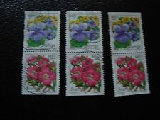 SUEDE - timbre yvert et tellier n° 2043 2044 x3 obl (A29) stamp sweden (F)