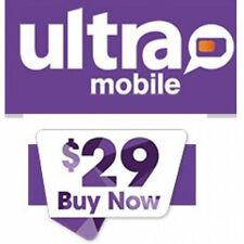 Ultra Mobile Dual Sim Card Pre-Loaded/ Funded w/ $29 Plan Included Micro/Regular