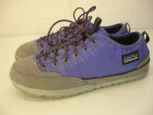 Women's 9 M Patagonia Activist Camp Shoes Violetti Purple Sneakers Lace-Up Flats