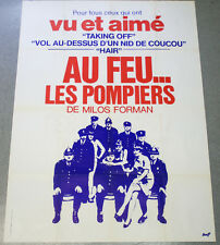 Affiche de cinéma : AU FEU LES POMPIERS de Milos FORMAN
