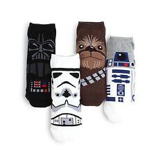 [Free Shipping] MEN's Star Wars Low Cut Socks (Pack of 4 pairs) Darth Vader NI14