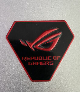 Asus Republic of Gamers RoG Aluminum Metallic Case Badge Black/Red