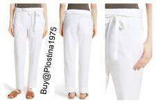 NWT  $275 Theory Gunilla Poplin Tie Waist Pants White  [Size :6] #A31