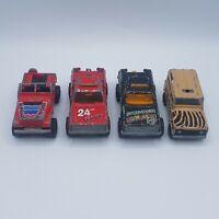 Lot of 4 Vintage Majorette Die Cast Trucks Jeep Land Rover France Retro