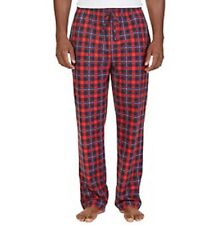 Nautica Men's Cozy Plaid Fleece Pajama Pants, Ablaze Red, Large L