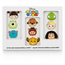 Disney Store Exclusive Limited Edition Tsum Tsum 9 Piece Pin Set Tangled Monster