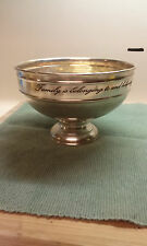 Silver Serving Bowl - Family is belonging to and believing in each other