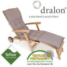 dralon® / Teflon™ PREMIUM AUFLAGE DECKCHAIR 180 x 44 CM CAPPUCCINO BRAUN POLSTER