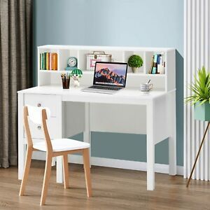 Computer Desk Laptop Table w/ Hutch & Drawers Home Office Workstation